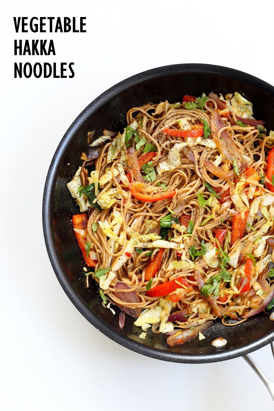Vegetable Hakka Noodles ? 1 Pot Indo Chinese Noodles