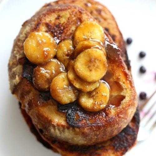 Vegan Banana French Toast With Caramelized Bananas Vegan Richa