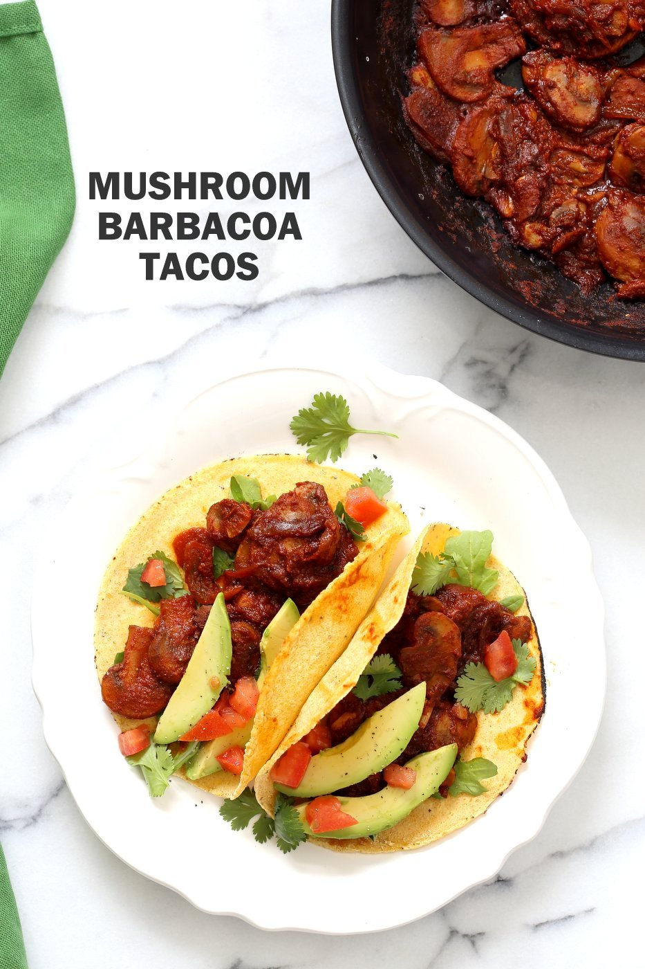 Vegan Barbacoa Mushroom Tacos . These saucy Barbacoa Tacos are super easy and versatile. Use the from scratch chile sauce with beans, lentils or other shredded vegetables for variation. 1 Pot Vegan Barbacoa Recipe. #Glutenfree #Nutfree #soyfree #Recipe #veganricha | VeganRicha.com