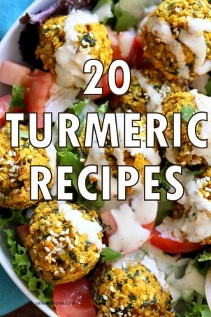 20 Recipes with Turmeric. Turmeric Cauliflower Rice, Turmeric Chocolate Marble Loaf, Golden Iced Tea, Turmeric Miso Soup, Turmeric brussels spouts and more. Vegan Gluten-free Turmeric Recipes. Soy-free options. VeganRicha.com