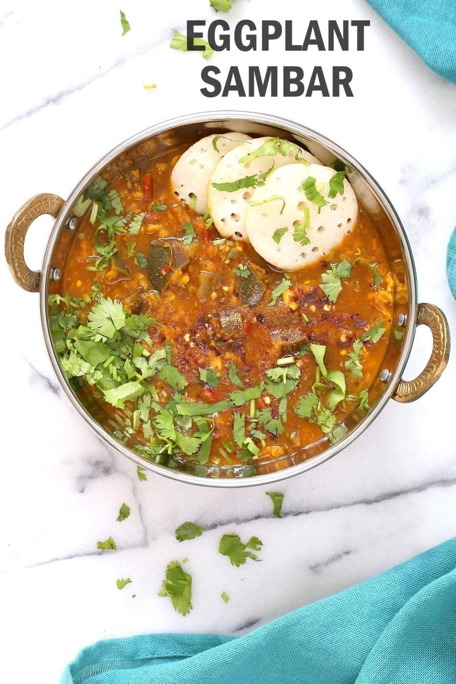 Instant pot eggplant sambar recipe indian yellow lentil tamarind eggplant sambar recipe indian yellow lentil tamarind dal toor dal sambar with eggplant or forumfinder Choice Image