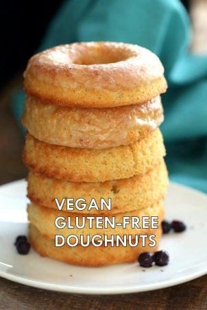 Vegan Gluten-free Lemon Donuts. Grain-free Baked Vegan Doughnuts – 1 Bowl