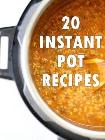 20 Vegan Instant Pot Recipes with no fake meats, no soy, no dairy. Instant Pot Vegetarian Recipes to cook up as meals. Vegan Gluten-free Vegan Richa