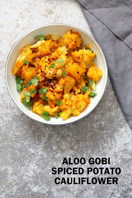 Instant Pot Aloo Gobi - Curried Potato Cauliflower. 1 Pot Aloo Gobhi. Indian Gobi Aloo Masala. Vegan Gluten-free Soy-free Nut-free Recipe | VeganRicha.com