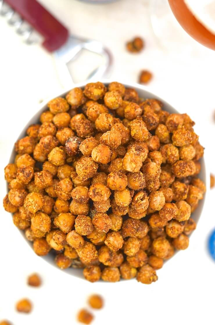 Vegan cheese and onion Roasted Chickpeas