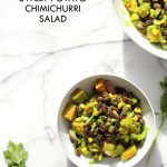 Summer Black Bean Salad with Sweet Potato, Corn, Peppers and Chimichurri Dressing. Vegan Gluten-free Nut-free Soy-free Recipe | VeganRicha.com
