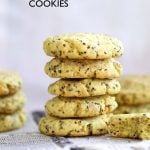Vegan Lemon Cookies with Chia. Zesty, Bite size Soft cookies for snaking or weekend baking. Vegan Recipe. Easily Gluten-free, Nut-free | VeganRicha.com