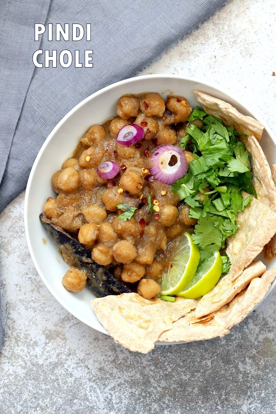 Pindi Chole - Chickpea Curry with Whole Spices. Chickpeas cooked with whole spices then added to a sauce with caramelized onions. Punjabi Chole Adapted from Rawalpindi style Chole. Instant Pot or Saucepan)Vegan Gluten-free Nut-free Soy-free Recipe | VeganRicha.com