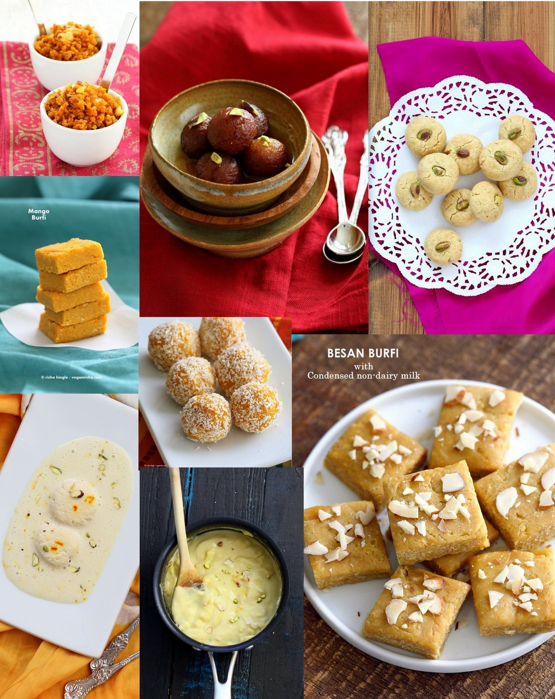 Vegan India Sweets and Desserts for Diwali | VeganRicha.com #veganricha #dairyfree #veganindian #glutenfree