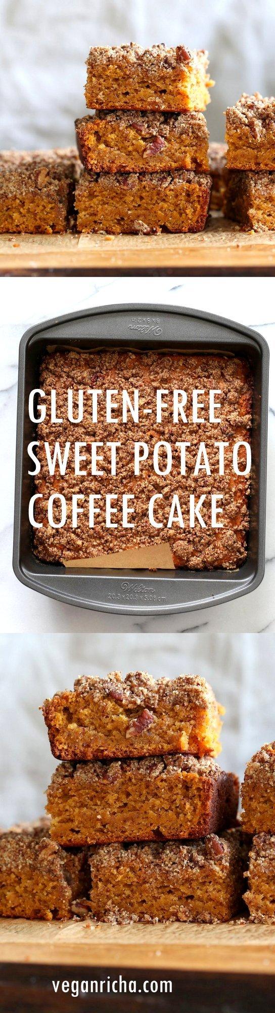 Gluten Free Sweet Potato Coffee Cake