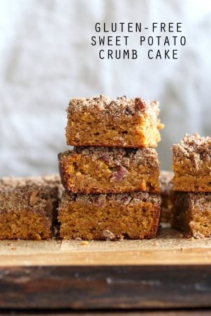 Vegan Gluten free Coffee Cake – Sweet Potato Pecan Crumb Cake