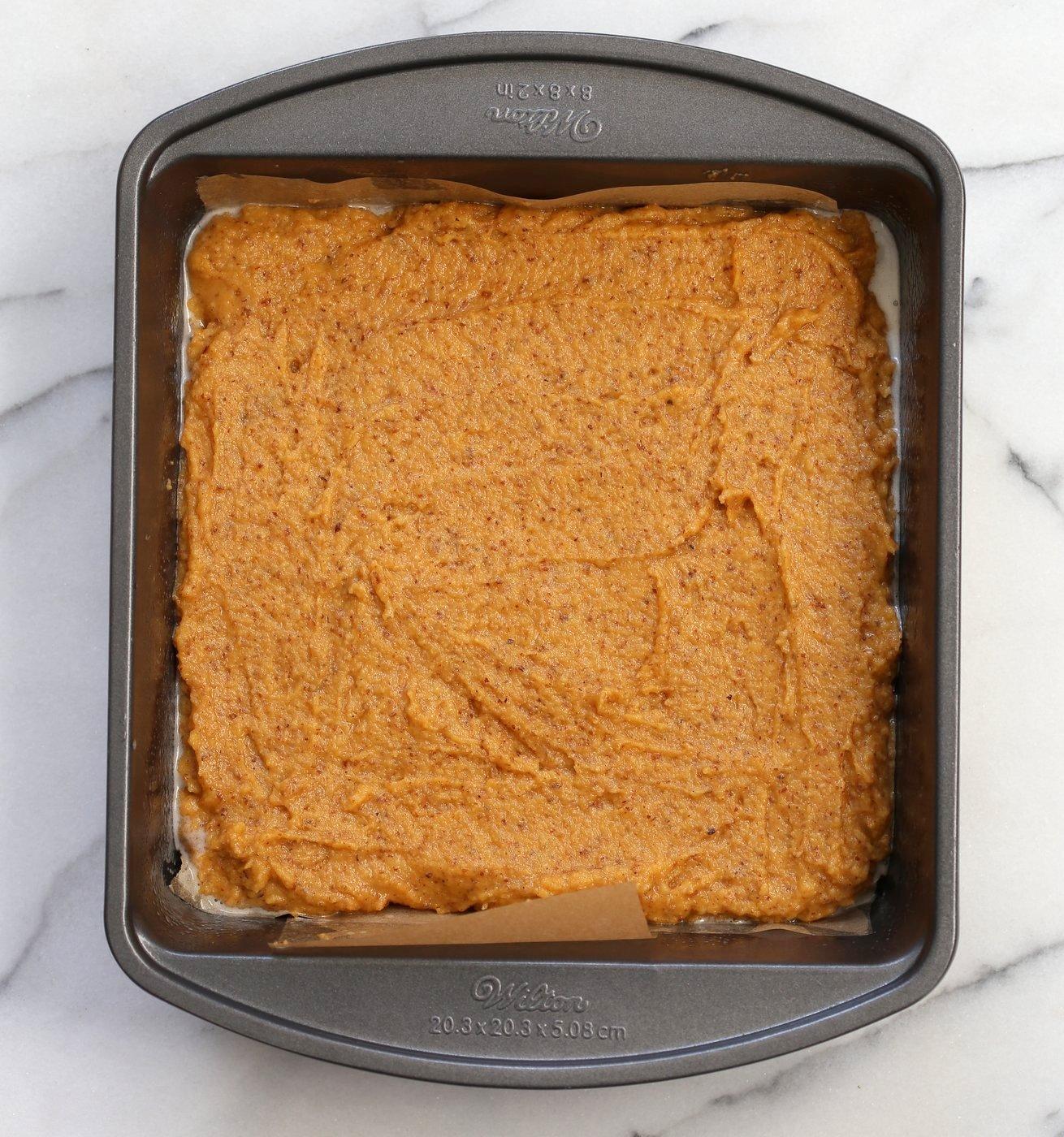 Vegan Gluten free Coffee Cake - Simple Fall Sweet Potato Pecan Crumb Cake with Pumpkin pie spices. Warm Cozy slice of cake. Gluten-free Soy-free Recipe. | VeganRicha.com