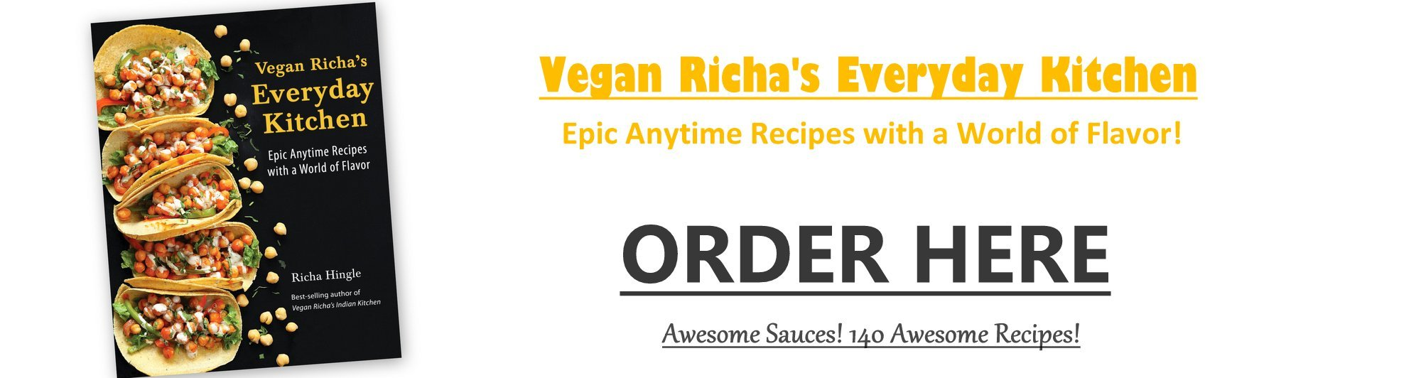 Vegan Richa's Everyday Kitchen Order Now. Available Everywhere Worldwide