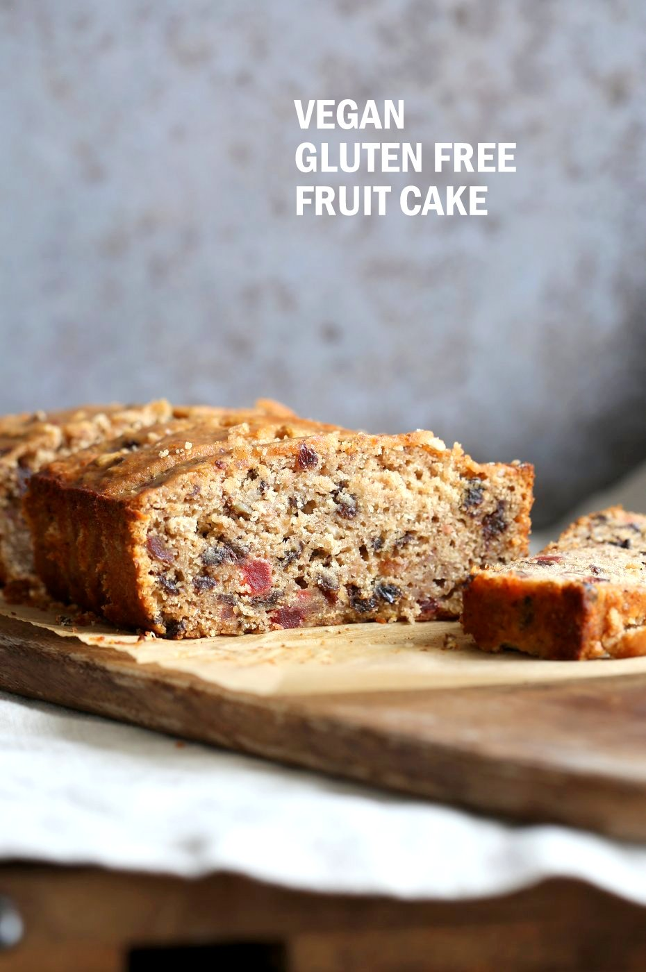 Vegan Gluten free Christmas Cake Fruit Cake full of nuts, dried fruits, candied ginger. Soft, Flavorful and great for gifting. Vegan Soyfree Recipe. #veganricha #vegan #glutenfree | VeganRicha.com