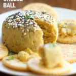 Everything bagel Seasoning Vegan Cheese Ball. No soaking, blending, straining needed! 10 minute vegan cheese ball. Gluten-free. Can be soy-free #vegan #cheese #veganricha | VeganRicha.com