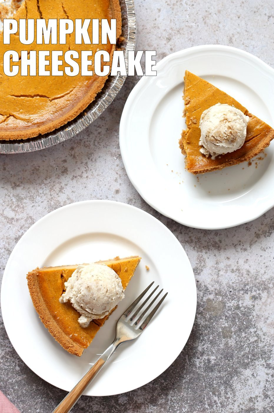Vegan Pumpkin Cheesecake with graham cracker style crust. Easy Creamy Pumpkin Cheesecake to please everyone. Gluten-free with gluten free crust.# Soyfree #Recipe #vegan #pumpkinheesecake #veganricha | VeganRicha.com