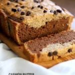 Gluten-free Cashew Butter Chocolate Marble Cake Vegan Gluten free Cake. Peanut butter chocolate marble loaf. Soft, Moist, Delicious and Easy Gluten-free Marble Cake. Soy-free gum-free Recipe.  #vegan #glutenfree #veganricha | VeganRicha.com