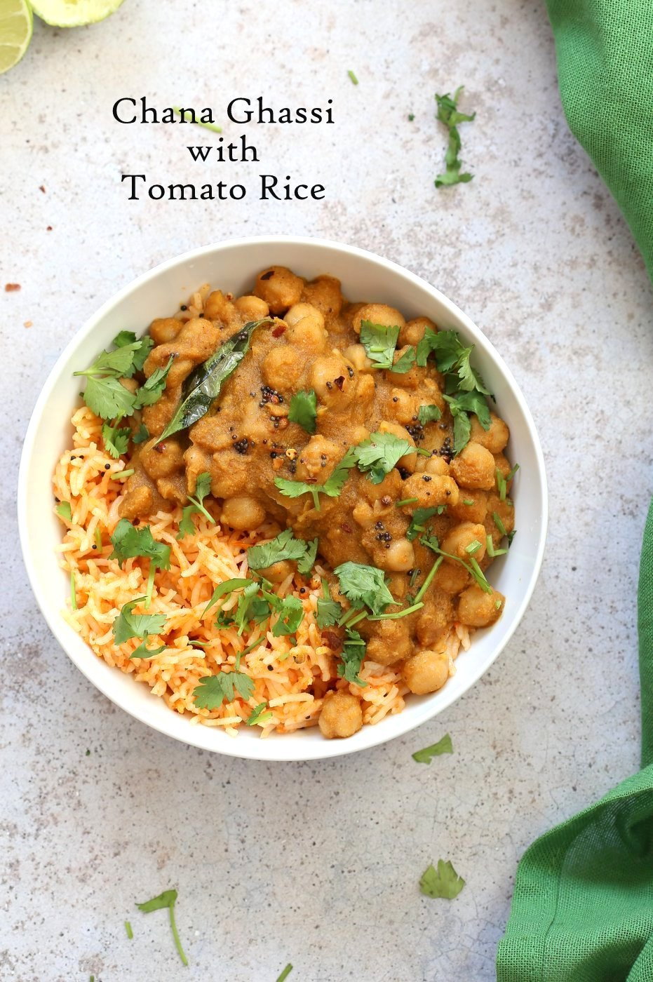 Chana Ghassi /Gassi - Mangalorean Coconut Onion sauce with Chickpeas. Regional Indian Curry simplified. #Vegan Gluten-free Soy-free Nut-free #Recipe #veganricha | VeganRicha.com
