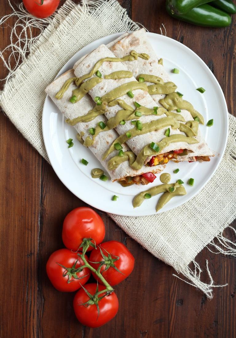 Vegan Mexican Burrito Breakfast