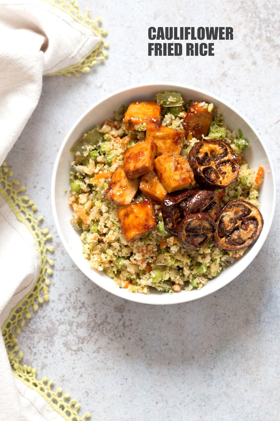 Cauliflower fried rice 1 pot vegan richa cauliflower fried rice easy 1 pot fried rice no grains low carb ccuart Gallery