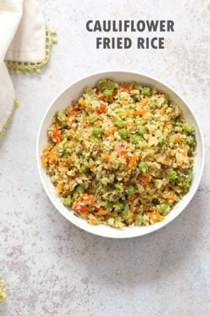 Vegan Cauliflower Fried Rice – 1 Pot