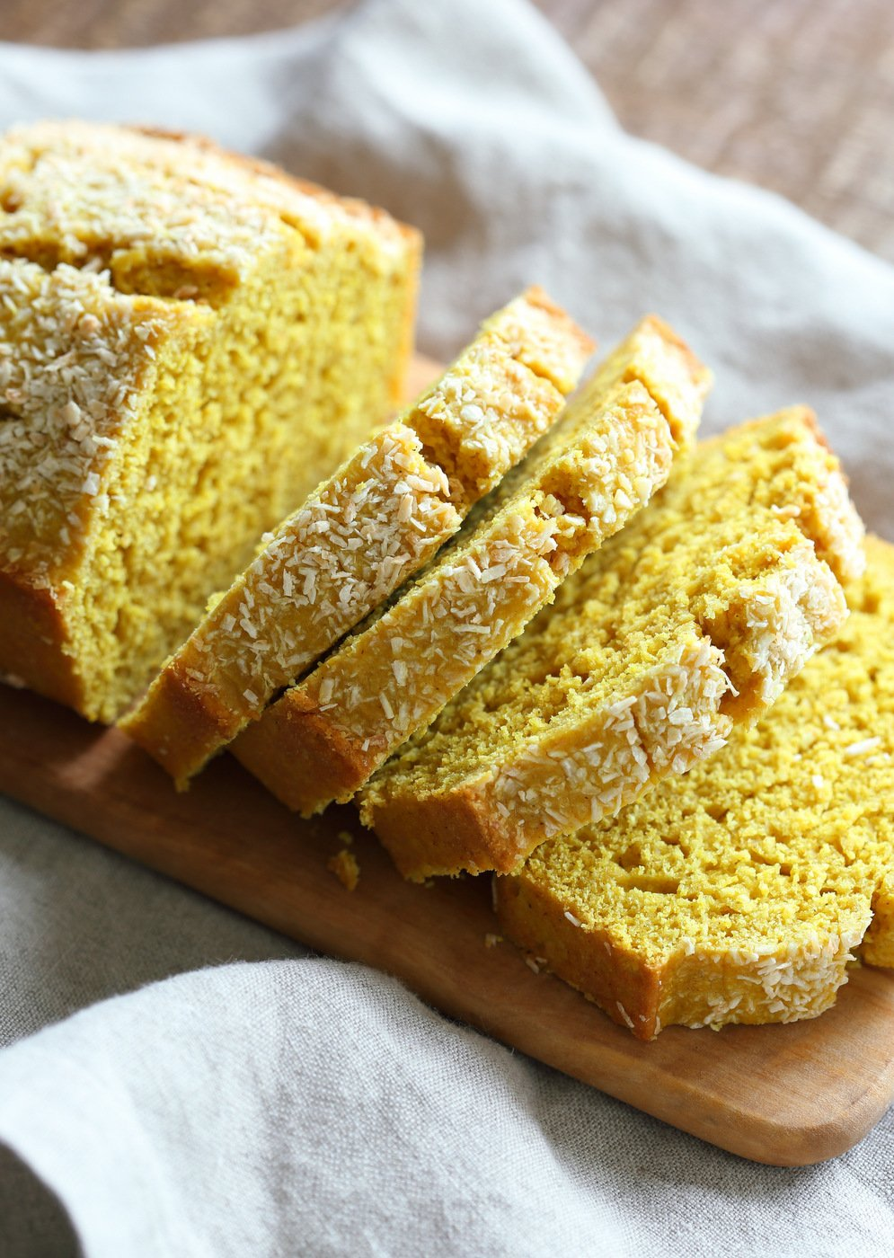 Coconut Turmeric Bread Golden Lemon Coconut Loaf Vegan