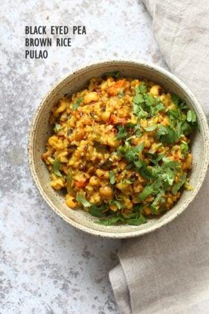 Instant Pot Black Eyed Peas Rice Pulao – Lobia Pulao