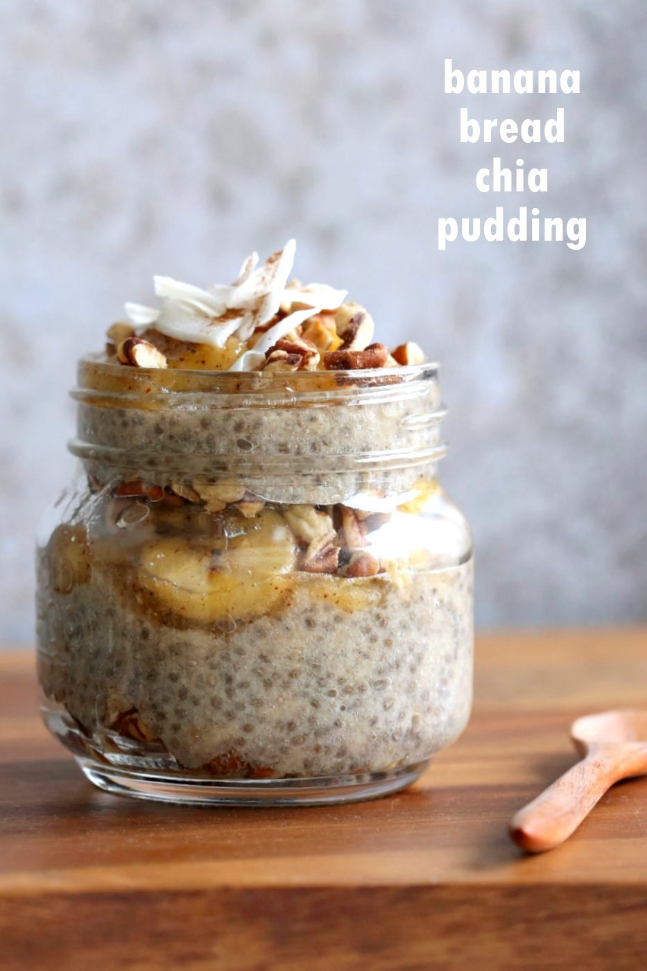 Banana Chia Pudding with Caramelized Banana and Coconut. Banana Bread in Chia Pudding form. Vegan Breakfast Recipe. #Glutenfree #Soyfree #veganricha #Recipe. Can be #Nutfree | VeganRicha.com