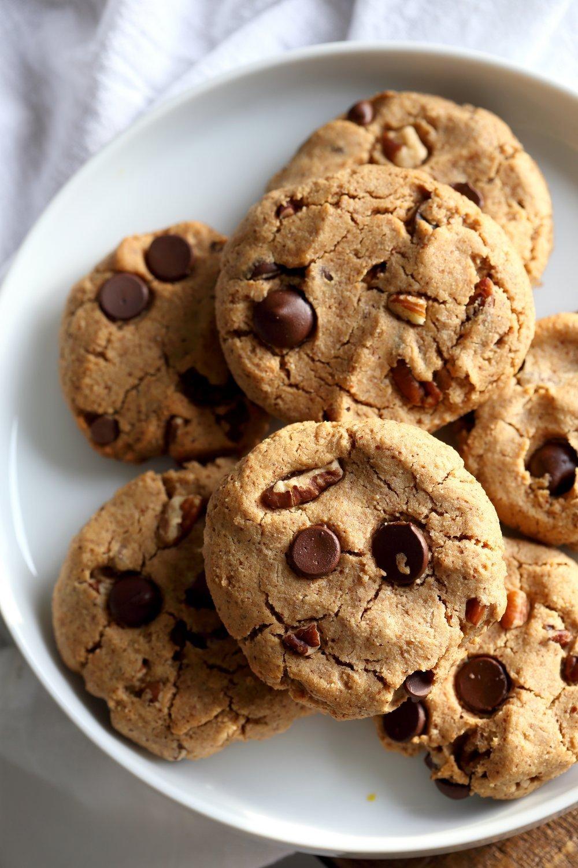 Vegan Paleo Grain Free Chocolate Chip Cookies With Coconut