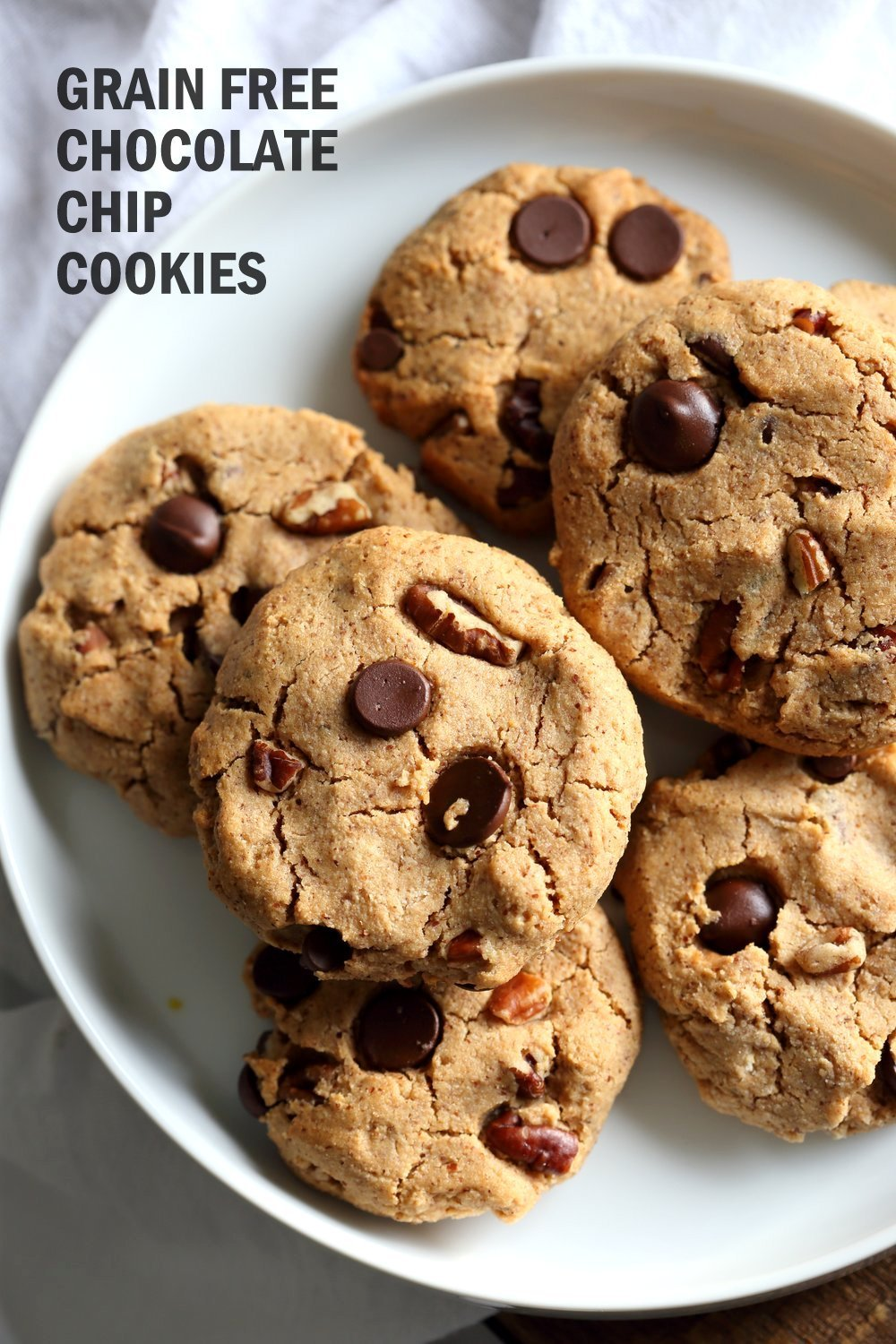 Vegan Paleo Grain Free Chocolate Chip Cookies With Coconut Flour And Almond Butter