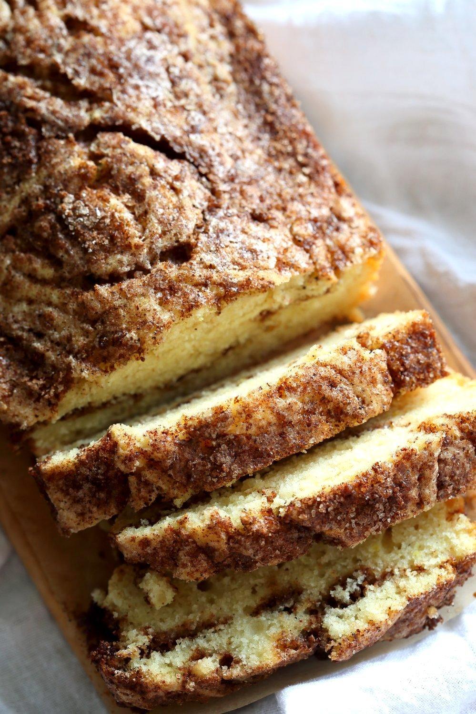 This Vegan Cinnamon Swirl Cake is super Easy and Quick. A simple yellow cake, swirled with cinnamon sugar makes for a delightful treat. Add some nuts into the swirl for variation #Vegan #Nutfree #Soyfree #Dessert #Recipe#veganricha | VeganRicha.com