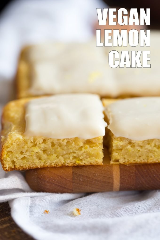 Vegan Lemon Cake with Cream Cheese Frosting. No added refined sugar in those soft and Delicious Lemon Cake! Make into cupcakes, loaf or a sheet pan cake. #Vegan #Soyfree #Recipe #lemoncake Can be nut-free #veganricha | VeganRicha.com