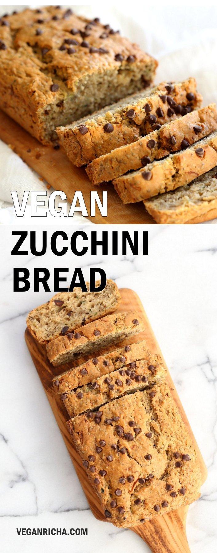 Easy Vegan Zucchini Bread #veganricha