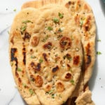 Whole Wheat Naan Bread. Soft, Amazing 100% Whole Grain Naan flatbread. Butter Naan Recipe. #Vegan #Soyfree #Nutfree #Recipe #veganricha | VeganRicha.com