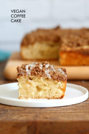 Vegan Coffee Cake Recipe – Cinnamon Streusel Cake
