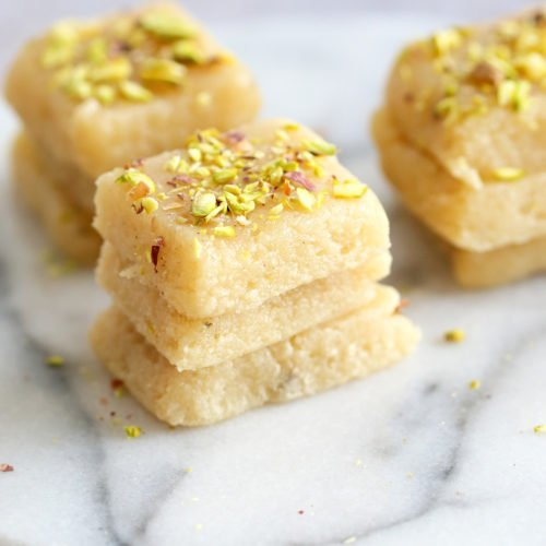 Vegan Malai Burfi Milk Cake Indian Fudge Bars Vegan Richa