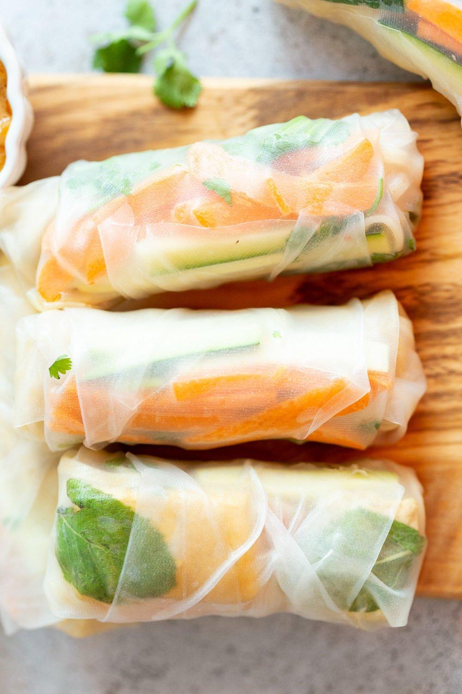 Peanut Sauce for our vegan Fresh Spring rolls