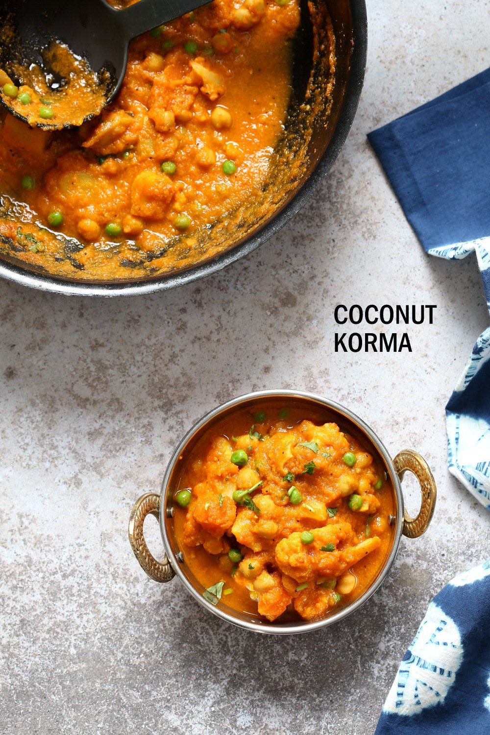 Veggie Kurma - Easy Coconut Korma Sauce with Cauliflower, Potatoes, Carrots, Chickpeas. 1 Pot Vegetable Korma #Vegan #Glutenfree #Soyfree #Nutfree #Recipe #veganricha