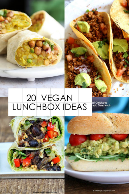 Vegan Lunch box ideas for Back to School. Sandwiches, Wraps and Snacks for lunch and easy weeknight meals. Vegan Glutenfree Soyfree options