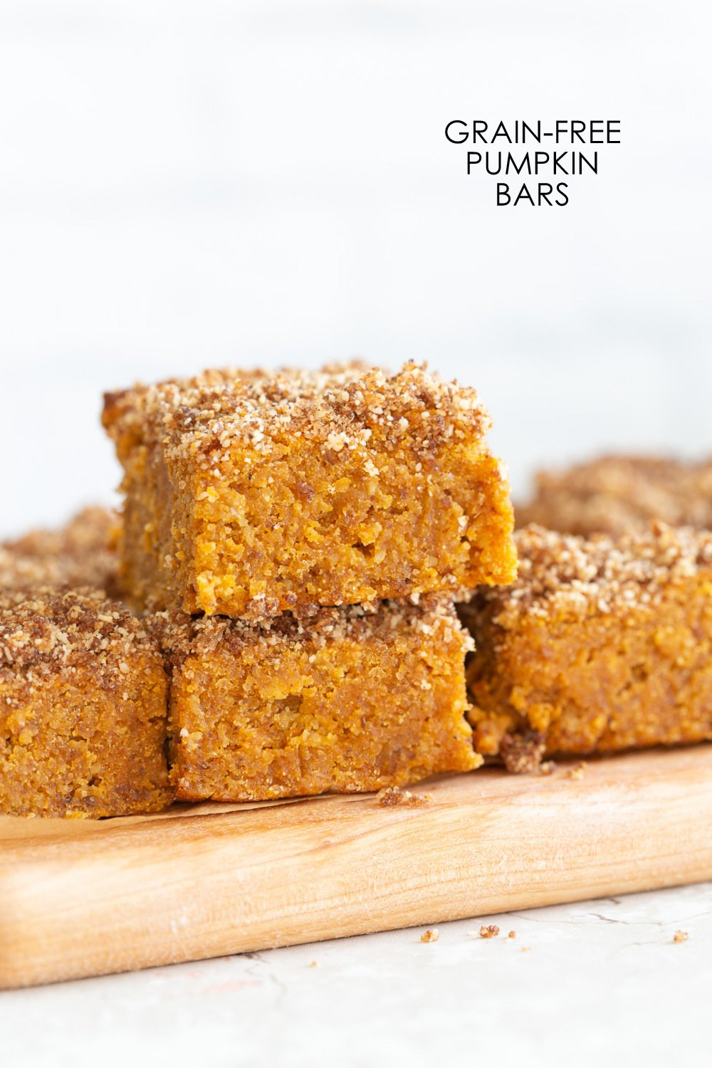 These Vegan Gluten-free Pumpkin Bars are grain-free, fudgy and so Delicious! Cinnamon streusel on top makes them decadent and festive. #oilfree #Vegan #Glutenfree #Soyfree #Paleo #Grainfree #Recipe #VeganRicha