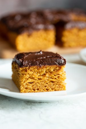 Vegan Pumpkin Cake with Chocolate Pumpkin Ganache