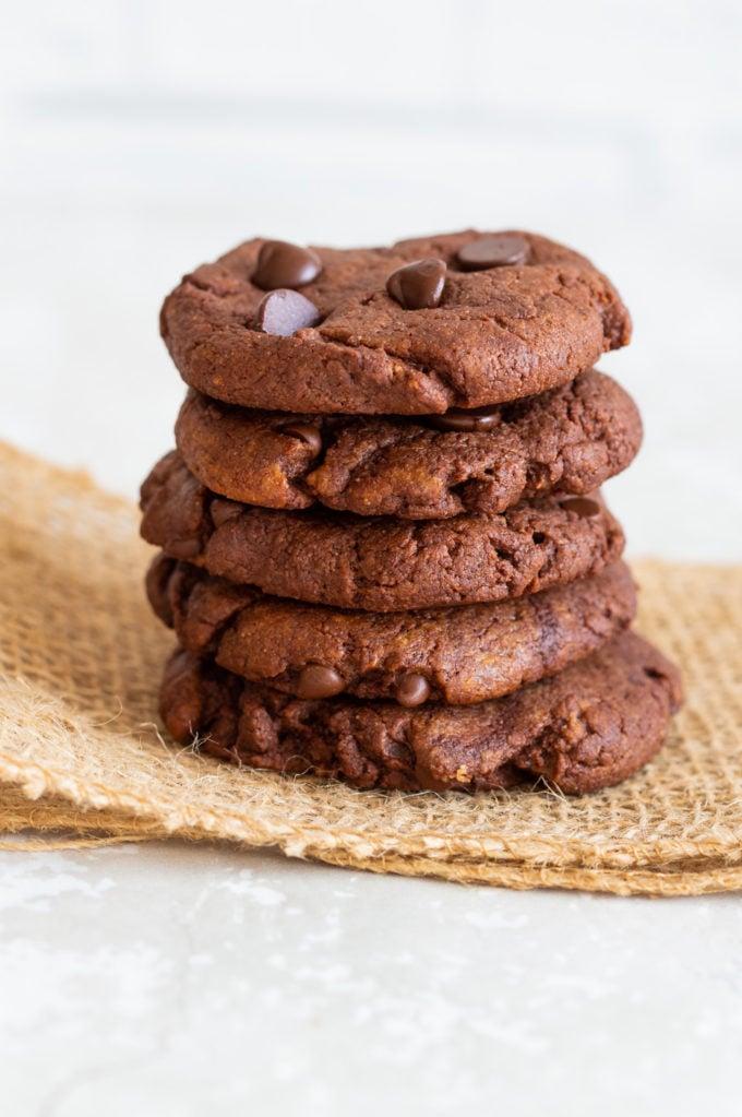 Chocolate Tahini Cookies - Grainfree Oilfree #vegan #veganricha