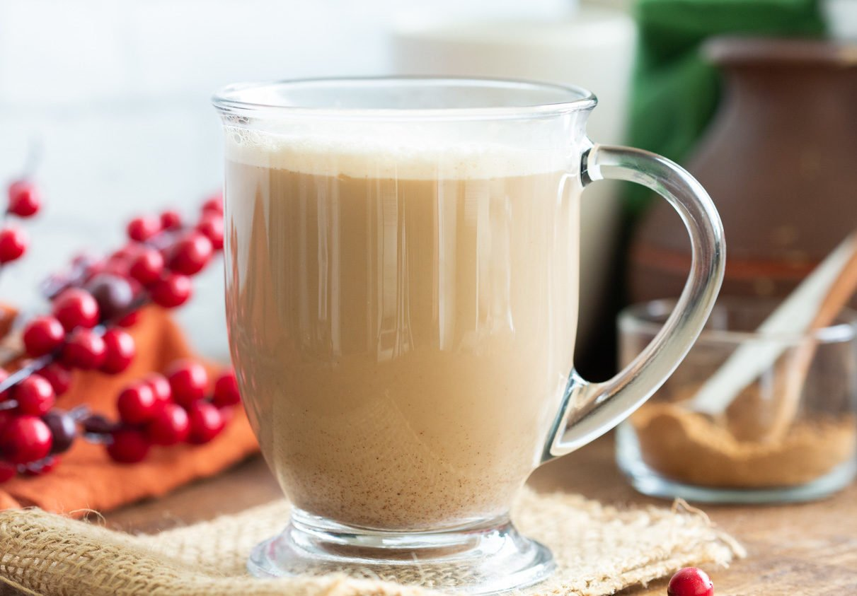 Creamy Warming Vegan Gingerbread Latte. This vegan version of the Starbucks gingerbread latte has fresh ginger, homemade gingerbread spice and amazing flavor. Can be made caffeine-free. Vegan Glutenfree Recipe