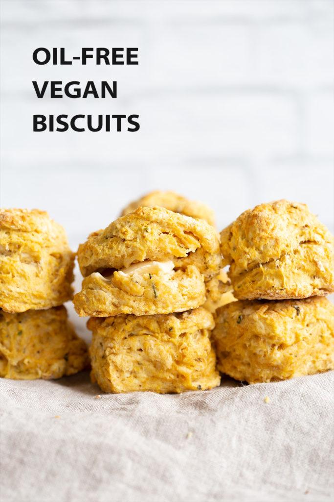 Oil-free Vegan Biscuits 1 Bowl