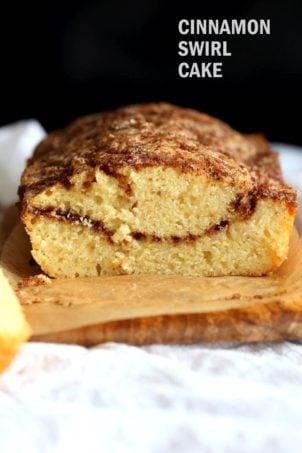 Cinnamon Swirl Cake #VeganRicha