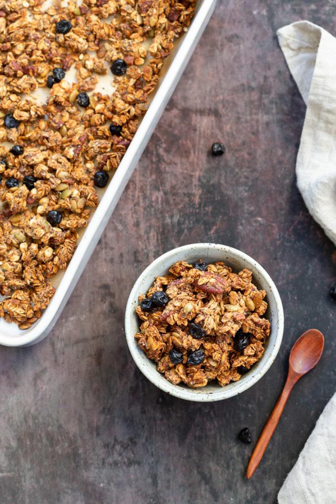 Vegan Date Caramel Maple Pecan Granola Gluten-free