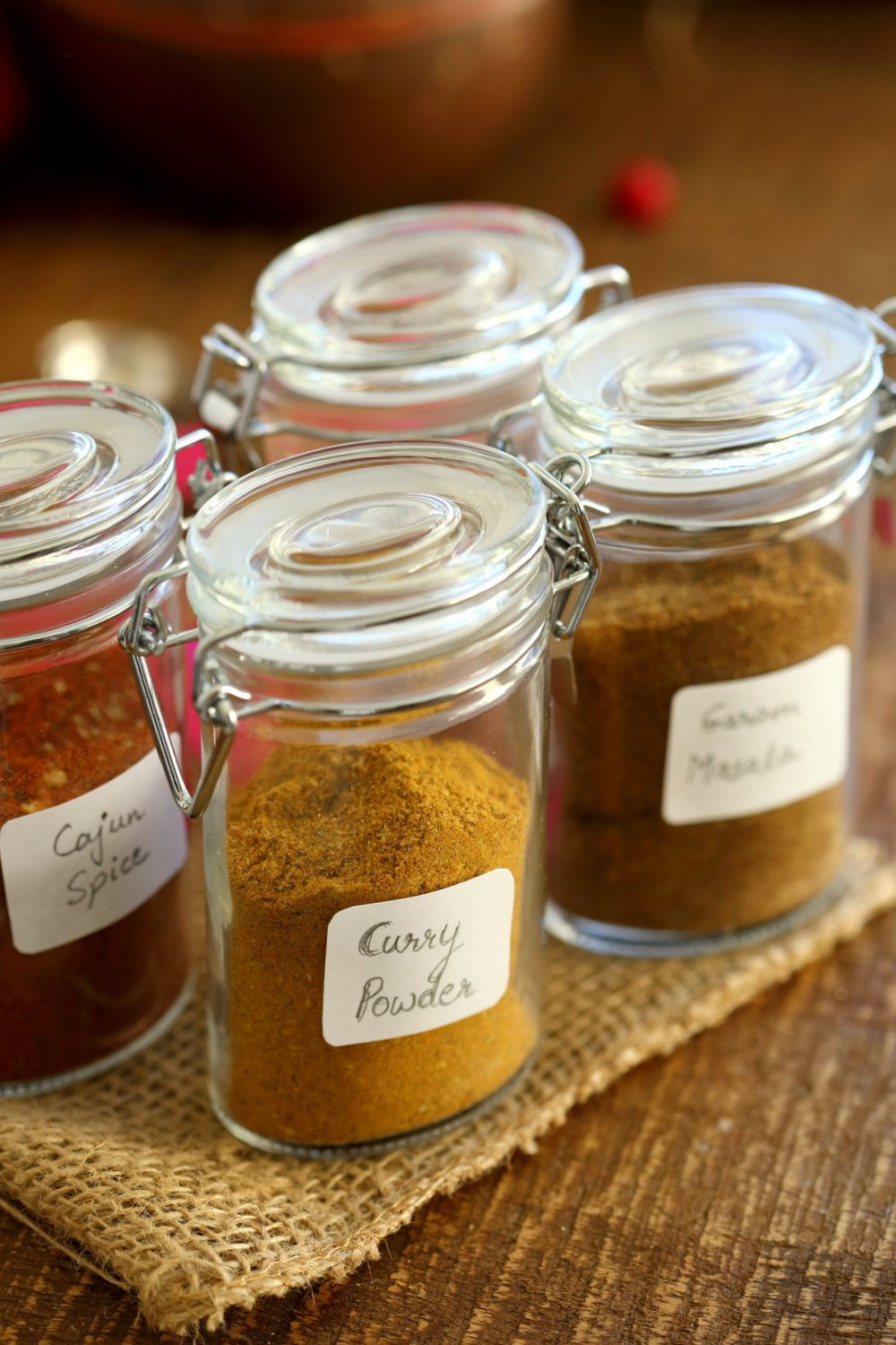 Easy Homemade Curry Powder Recipe! Adjust the ingredients to make your favorite curry spice. Use the seasoning in curries, roasted veggies, bowls, add to beans, hummus. Vegan Recipe #VeganRicha