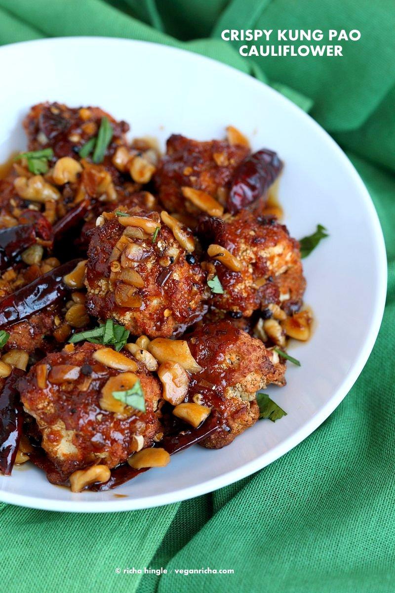 Kung Pao Cauliflower #VeganRicha