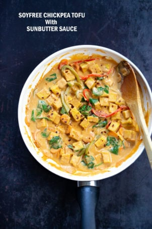 Soy-free Tofu Stir fry with Sunbutter Sauce (Nutfree Peanut Sauce)