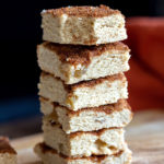These Vegan Snickerdoodle Bars need 1 Bowl and 30 mins. Easy Snickerdoodle cookie bars short bread like, cinnamony and delicious. Glutenfree option. #vegan #recipe #snickerdoodlebars #veganRicha